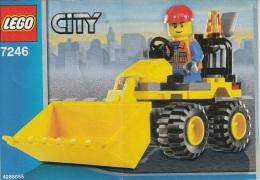 Lego 7246 La mini-pelleteuse avec plan 100 % Complet voir scan