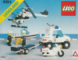 Lego 6354 Police equipe d'intervention a�rienne et maritime avec plan 100 % Complet voir scan