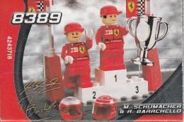 Lego 8389 Racers M Schumacher et R Barrichello avec plan 100 % Complet voir scan