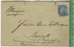 Brief, Belgien Nach Bayreuth 1904 Mit Frankatur Und Stempel Umschlag Ohne Inhalt Zustand: I-II - Bayreuth