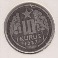 @Y@  Turkije   10  Kurus  1937    (item 2425) - Turquie