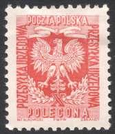 Poland, 1.55 Z. 1954, Sc # O31, Mi # 28A, MH - Officials