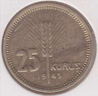 @Y@  Turkije   25  Kurus  1945    (item 2434) - Turquie