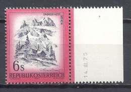 Österreich 1975 Schönes Mi 1477 Rätikon Vorarlberg ** MNH Rechter Rand Mit Druckdatum 14.III.75 - 1945-.... 2nd Republic