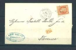France Empire Lauré Yvert 31 Paris Etoile 1 -Belle Frappe - Postmark Collection (Covers)