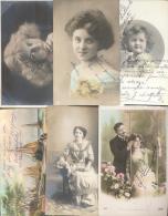PARTE DE LA COLECCION DE POSTALES DE LA MILLONARIA COLECCIONISTA LOLA MALFATTI DE ARGENTINA FANTASIAS MUJERES RARE - Postkaarten