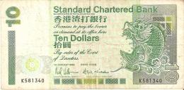 BILLETE DE HONG KONG DE 10 DOLARES DEL AÑO 1993 (BANK NOTE) - Hong Kong