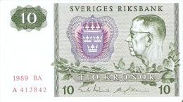 BILLETE DE SUECIA DE 10 CORONAS DEL AÑO 1989 CALIDAD EBC+  (BANKNOTE) - Suède