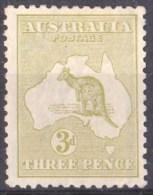 Australia 1915 Kangaroo 3d Olive 3rd Wmk Die 1 MH - - - Mint Stamps
