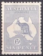 Australia 1915 Kangaroo 6d Blue 3rd Wmk MH - Mint Stamps