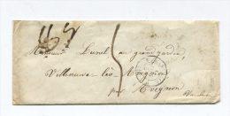 Enveloppe LSC 1854 - Marseille Pour Villeneuve-lès-Avignon - Marcophilie (Lettres)