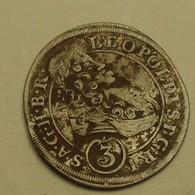 1701 - Autriche - Imperial Austria - Silesia - 3 KREUZER, LEOPOLD 1, Breslau Mint, Argent, Silver, KM 504 - Austria