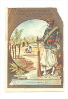 Chromo Publicitaire  - Grande Maison Du Blanc Bruxelles - Tirailleur Sénégalais - Armée Française  (Mich2) - Trade Cards