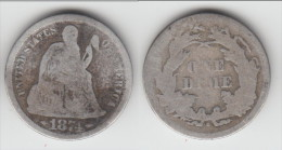 **** USA  - ETATS-UNIS  - 1 DIME 1874 S - ONE DIME 1874 S - SEATED LIBERTY - SILVER **** EN ACHAT IMMEDIAT !!! - Federal Issues
