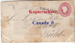 B  3  ----   Brief Baden  U 9 AS  Von Radolfzell Nach Bühl Bahnpost  CH  22.11.1865 - Baden