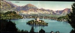 203512,Klappkarte Veldes Bled Kirche Insel See - Slowenien