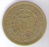 PERU 25 CENTAVOS 1965 - Perú
