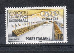Italia   -   1956.  Olimpiadi Di Cortina 12 £.  Filigrana  Stelle II.  MNH - 1946-60: Neufs