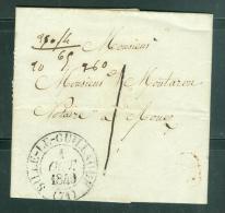 Lettre En Port Local Taxe 1 Decime ( ^m Circonscription Postale Obli Sillé Le Guillame En 1840 Pour Rouez  Aw8803 - 1801-1848: Vorläufer XIX