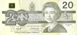 BILLETE DE CANADA DE 20 DOLARES DEL AÑO 1991  (BANKNOTE) - Kanada