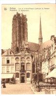 Mechelen- Malines-St. Romboutskerk-Cathédrale St. Rombaut-Coin De La Grand´Place-Timbre Expo.Bruxelles 1935- COB 387 - Malines