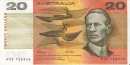 BILLETE DE AUSTRALIA DE 20 DOLLARS   (BANKNOTE) RARO - Emisiones Gubernamentales Decimales 1966-...