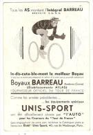 CPA Publicitaire Boyaux Barreau Unis Sport Tour De France 1937 équipe De Suisse - Ciclismo