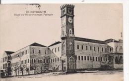 BEYROUTH 12 SIEGE DU GOUVERNEMENT FRANCAIS 1922 - Liban