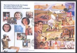 UN Maxi FDC - WE 2000 01 - Die Vereinten Nationen Im 21. Jahrhundert - FDC