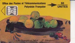 TELECARTE POLYNESIE FRANCAISE -GAUGUIN -PF 5A UTILISE - TB COTE : 40 € - Französisch-Polynesien