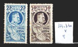 Pologne 369-370 *  Côte 8 € - 1919-1939 Republic