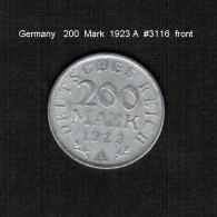 GERMANY     200  MARK  1923 A  (KM # 35) - 200 & 500 Mark