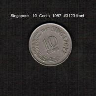 SINGAPORE     10  CENTS  1967  (KM # 3) - Singapore