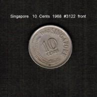 SINGAPORE     10  CENTS  1968  (KM # 3) - Singapore
