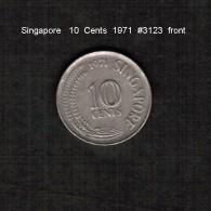 SINGAPORE     10  CENTS  1971  (KM # 3) - Singapore
