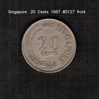 SINGAPORE     20  CENTS  1967  (KM # 4) - Singapore