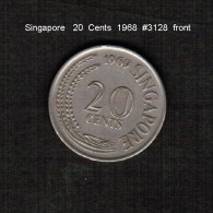 SINGAPORE     20  CENTS  1968  (KM # 4) - Singapore