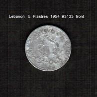 LEBANON     5  PIASTRES  1954  (KM # 18) - Lebanon