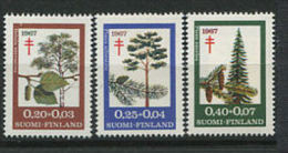 FINLANDE 1967 - Arbres, Medecine, Lutte Antituberculeuse - Neuf Sans Charniere (Yvert 593/95) - Finlandia