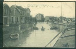 Inondations De Janvier 1910 - 6 - Fin D'oise - Maurecourt - Quai De Maurecourt   - Aby44 - Maurecourt