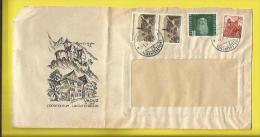Belle Enveloppe Publicitaire Du LIECHTENSTEIN De L'Office De Tourisme De VADUZ Timbres N° 200, 198, Et 24 Aérien (LEONAR - Liechtenstein