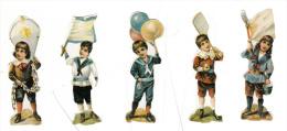 Découpis - Lot De 5 - Garçonnets Portant, Ballons, Drapeau, Raquette, Cerf Volant - Ragazzi