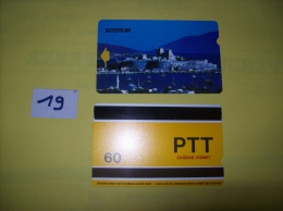 TELECARTE - TURQUIE - Bodrum  - Dos PTT Cagdas Hizmet  60 - Voir Photo ( 19 ) - Turkije