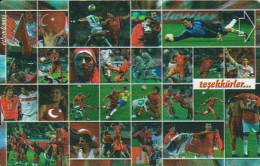 Turkey, N-240a, Football World Cup 2002, Turkish Football Team, 2 Scans.     Plasteknik - Turkije