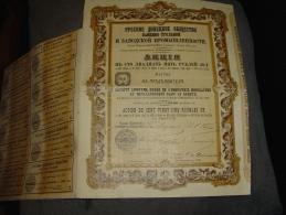 """Action De 125 Roubles Or """" S.A. Russe De L'industrie Houillère Et Métallurgique Dans Le Donetz""""1895 Russie Russia - Russie"""