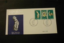 New Hebrides British 25th Anniversary Of Coronation Of Elizabeth II Day Of Issue Cancel 1978 A04s - English Legend