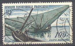 A.E.F. Poste Aérienne YT N°59 Pêcheurs Kotoko Oblitéré ° Brazaville R.P. Congo - Used Stamps
