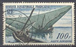 A.E.F. Poste Aérienne YT N°59 Pêcheurs Kotoko Oblitéré ° - Used Stamps