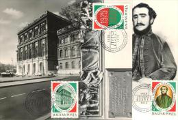 HUNGARY - 1975.Maximum Card Cpl.Set - Academy Of Science / Széchenyi Mi:3039-3041 - Maximum Cards & Covers