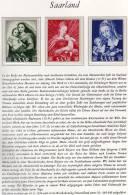 Marianne-Jahr 1954 Saarland 351/3 ** 5€ Madonna-Gemälde Der Saar Holbein Raffael Dürer Art Stamp Painting Set Of Germany - Saargebiet